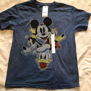 NWT Mickey, Donald, Goofy, Pluto T shirt